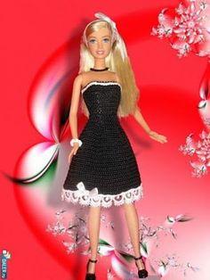 ~inspiration: BLACK~ - tonya f - Picasa Web Albums Barbie Patterns, Doll Clothes Patterns, Clothing Patterns, Bratz Doll, Barbie Doll, Crochet Barbie Clothes, Crochet Doll Pattern, Barbie Collection, Barbie Friends