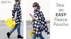 How to Sew a Fleece Poncho with a Cowl Neck