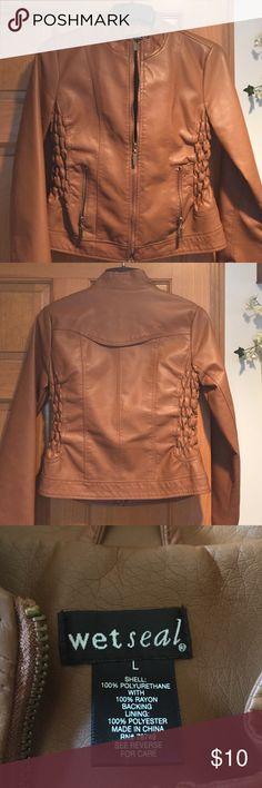 Brown zip jacket Brown zip up waist jacket Wet Seal Jackets & Coats Utility Jackets