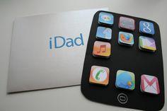 Súper original manualidad para el día del padre: tarjeta iDad