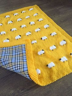 This adorable sheep blanket has fuzzy little sheep, great for a tactile experience for baby. Reverse side (optional) is a heavy flannel cotton that…