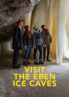 Take a winter hike and visit the Eben Ice Cabes, a favorite of many students at NMU.