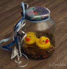 """Cadeau Idee: """"zwemmen in het geld"""" - www.cynsart.nl"""