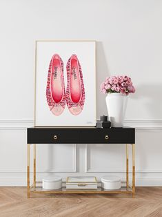 Excited to share the latest addition to my #etsy shop: Chanel Ballet Flats Instant Download, Coco Chanel Printable, Chanel Poster, Fashion Shoes Digital Download, Modern Minimalist, Pop Art Print