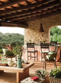 A charming house in Catalunia - Spain Jardin Avec Terrasse Como Antigamente ! Outdoor Rooms, Outdoor Gardens, Outdoor Living, Outdoor Decor, Farmhouse Renovation, Charming House, Mediterranean Decor, Spanish Style, Interior And Exterior