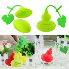 Creative Silicone Calabash Infuser Loose Tea Leaf Strainer Herbal Spice Filter