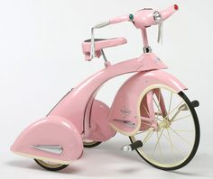 retro pink tricycle
