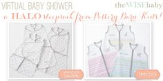 A #giveaway of one of our favorites products from @Pottery Barn Kids and @HALO® SleepSack®! Our Virtual Baby Shower: HALO SleepSacks • The Wise Baby