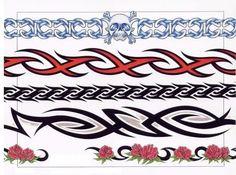 Black Tribal And Red Tribal Band Tattoos Designs Tribal Band Tattoo, Tribal Phoenix Tattoo, Tribal Tattoos, Sun Tattoos, Head Tattoos, Small Tattoos, Dragon Tattoos, Free Bird Tattoo, Dragons