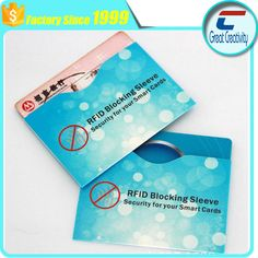 Free Samples RFID Aluminum Foil Paper Sleeves to Protect Credit Cards