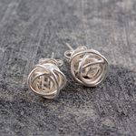 Nest Stud Earrings Silver Small | Fab.com