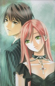 Rosario + Vampire -Tsukune and Moka Manga Anime, Comic Manga, Manga Art, Rosario Vampire Manga, Girls Anime, Vampire Knight, Moka, Cute Anime Couples, Anime Shows