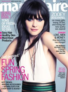 Marie Claire US. Zooey Deschanel. May 2012.