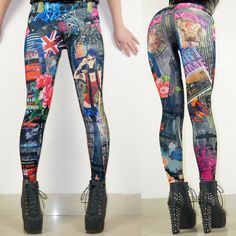 Find More Leggings Information about New 2015 Women Sexy Fashhion  Print Tattoo Jeans Look Legging  Punk Rock  Print Leggins,High Quality jeans the stars wear,China jean capri Suppliers, Cheap jeans jacket and pants from Pelum Factory Outlet on Aliexpress.com