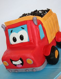 And Everything Sweet: dump truck cake filled with oreaos