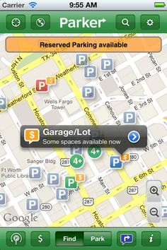 Parker: Mobile awareness of available parking spots (by Streetline, Inc.)