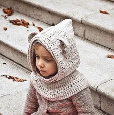 (4) Name: 'Crocheting : Polar Bear Hooded Cowl