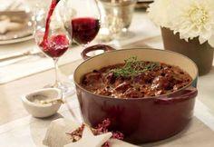 Mijoté de cerf au vin rouge