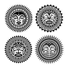 tattoo cara guerrero maori en pierna - Buscar con Google