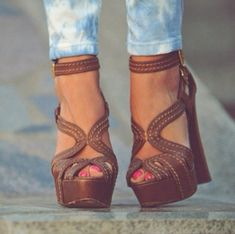 shoes block heels strappy heels brown wedges brown wedges heels girly  platform shoes high heels