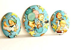Vintage Nursery Wall Plaques Baby Boy by Digvintageshop on Etsy, $22.00
