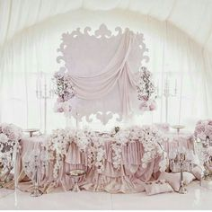 Wedding skirt table