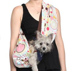 Pet Sling Dots Brown, $19, now featured on Fab.