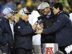 New England Patriots owner Robert Kraft is presented