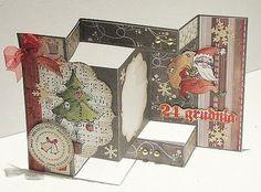 Polpomp - Inspiracje, konkursy, informacje: Świąteczna tri-shutter card - kurs