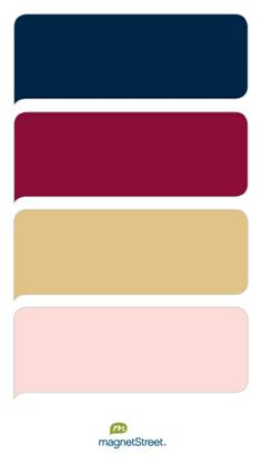Navy, Burgundy, Gold, and Teaberry Wedding Color Palette - custom color palette created at MagnetStreet.com
