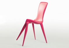 This sleek chair by designer Vladimir Tsesler displays an attitude with the way its two front legs are crossed.