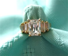 Vintage Emerald Cut Diamond Ring. LOVE LOVE, def a emerald cut fan!