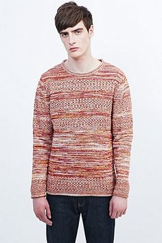 Shore Leave by Urban Outfitters Maxten Knit Jumper in Rust - Urban Outfitters
