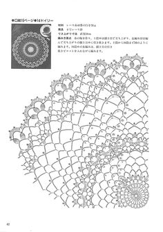 "Photo from album ""Kyoko Kawashima - Beautiful Crochet Lace on Yandex. Crochet Doily Diagram, Crochet Edging Patterns, Crochet Mandala, Crochet Chart, Lace Patterns, Thread Crochet, Crochet Motif, Irish Crochet, Lace Doilies"