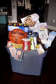 Silent Auction Basket - Sports theme