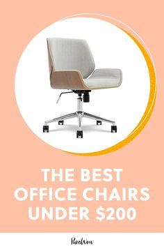 It's about time to add the final upgrade to that WFH situation and invest in an ergonomic desk chair. Here are 15 under $200. #best #office #chairs