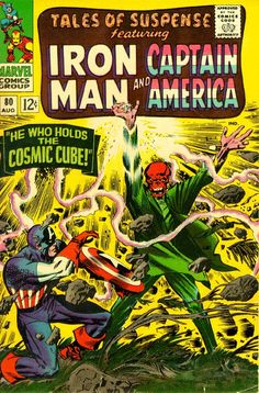 The Red Skull wielding the Cosmic Cube: Tales of Suspense #80 (Aug. 1966). Cover art by Jack Kirby and Don Heck.