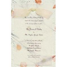 I like the way the ribbon is tied.. Vellum Wedding ...