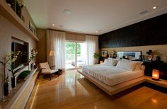 An ideal bedroom. Modern Luxury Bedroom, Master Bedroom Interior, Bedroom Closet Design, Luxurious Bedrooms, Bedroom Decor, Sofa Design, Secret Rooms In Houses, Minimalist Room, Suites