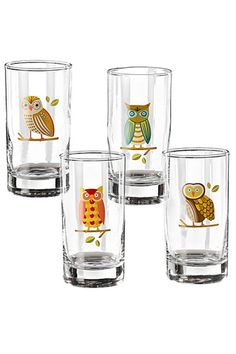 I have bought so many glass cups for my apt and never have visitors to drink from them. Whats 4 more?