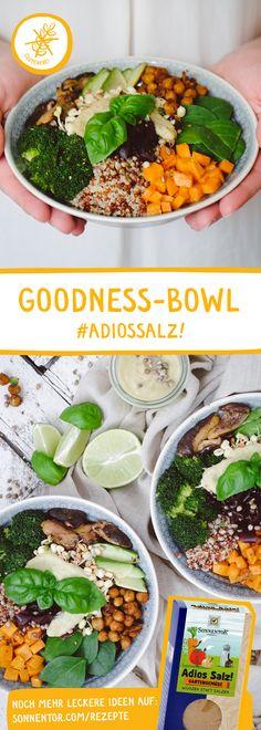 Wunderbar abwechslungsreiches Gericht mit köstlichen Zutaten Broccoli, Spinach, Hemp Seeds, Soy Sauce, Superfood, Healthy Recipes, Healthy Food, Quinoa, Sprouts