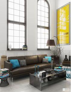 Home Designing U2014 (via Yellow Room Interior Inspiration: 55+ Rooms.
