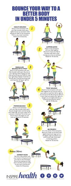 Everyone loves playing on the trampoline! Here's how to get fit while doing it.