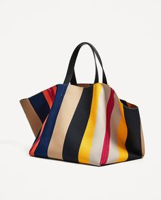 Image 3 of MULTICOLORED STUDIO TOTE BAG from Zara