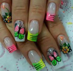 Summer Nails, Cute Nails, Acrylic Nails, Manicure, Nail Designs, Nail Art, Erika, Beauty, Beautiful