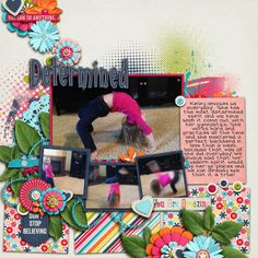 Digital Scrapbook Page by Britt | You Are Amazing by Bella Gypsy