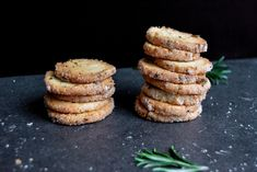 Rosemary & Lemon Heidesand Cookies | eat in my kitchen.