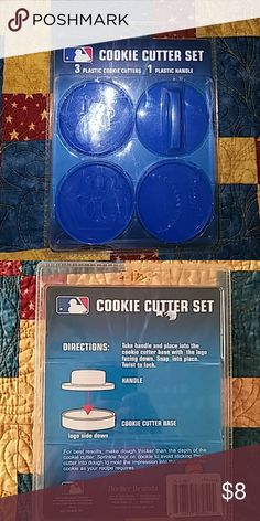 NEW YORK METS NEW IN PACKAGE - NEW YORK METS COOKIE CUTTER SET Borelter Accessories
