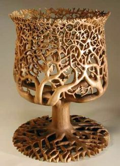 Oak Tree Goblet #cncartwork  http://cnc.gallery/