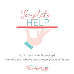 Template Help Add-On  Photoshop Template by StudioStrawberry